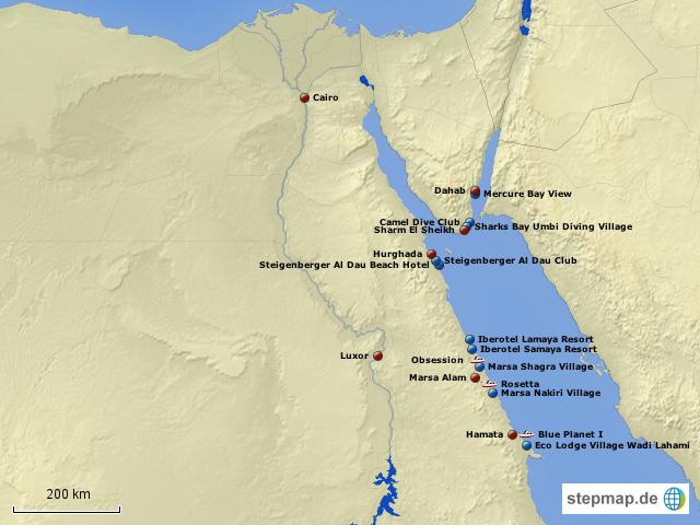 Karte ägypten Sharm El Sheikh.Stepmap ägypten Alle Hotels Landkarte Für ägypten