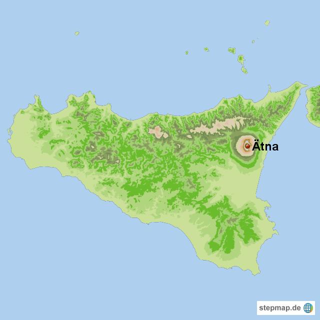 Sizilien Karte ätna.ätna Von Marior207 Landkarte Für Sizilien
