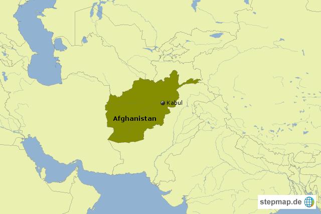 afghanistan von getcards landkarte f r afghanistan. Black Bedroom Furniture Sets. Home Design Ideas