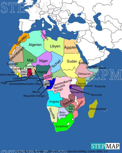 Landkarte: Afrika