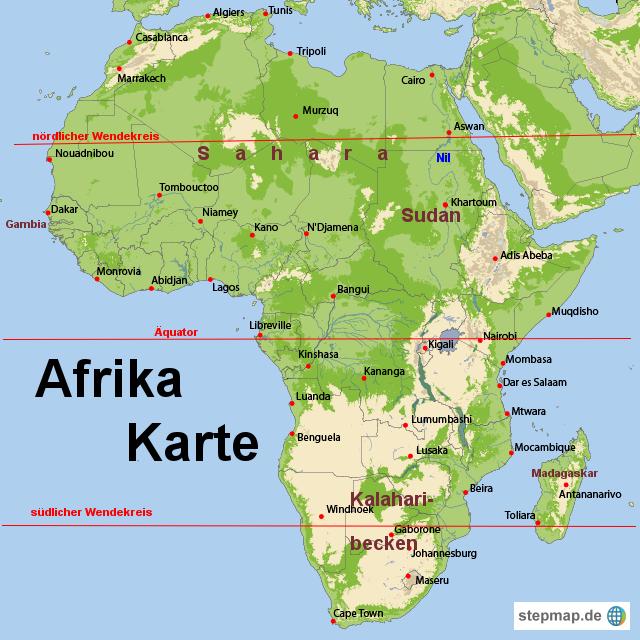 afrika karte von karten landkarte f r afrika. Black Bedroom Furniture Sets. Home Design Ideas