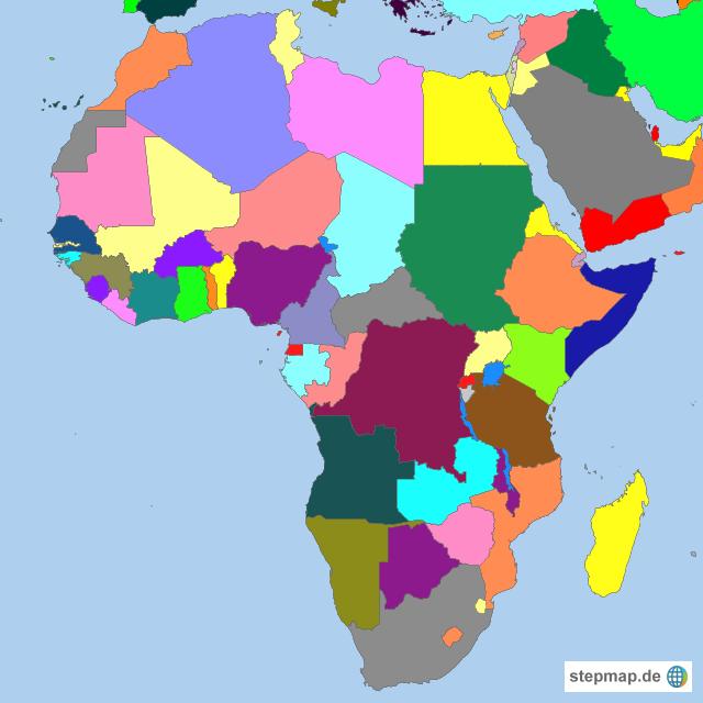 Afrika Karte Staaten.Afrika Länder In Farben Von Koenigin Landkarte Für Afrika
