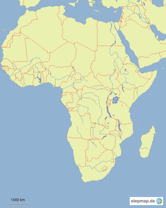 afrika l nder und fl sse ohne beschriftung von thiel zapp landkarte f r afrika. Black Bedroom Furniture Sets. Home Design Ideas
