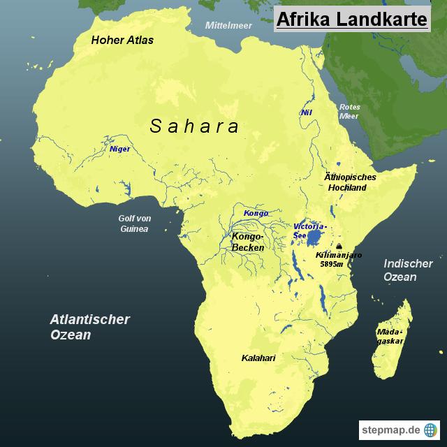 Sahara Wüste Karte