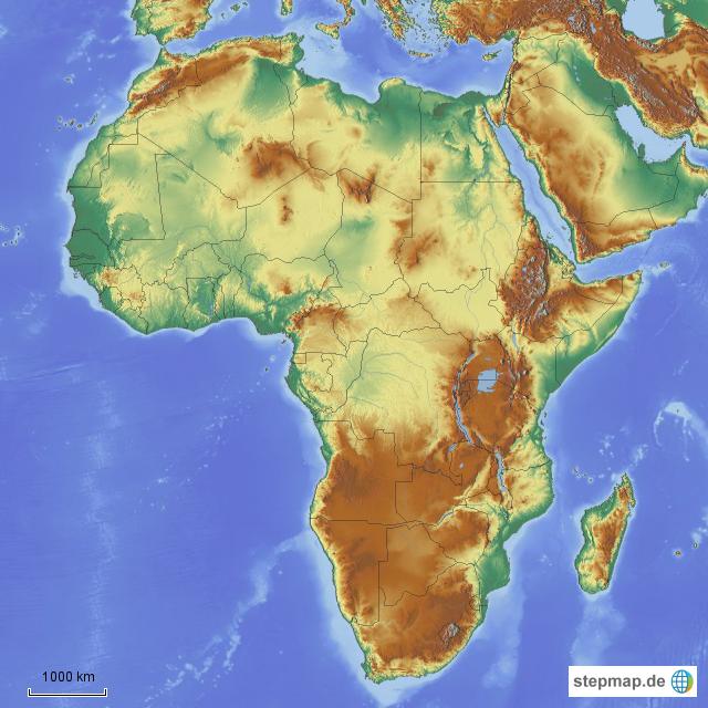 afrika karte physisch Afrika physisch von mrsj_4teachers   Landkarte für Afrika afrika karte physisch