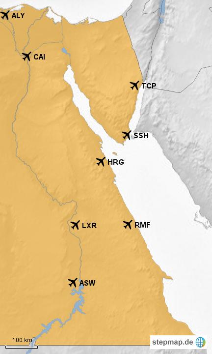 Airport Egypt Von Divestyle Landkarte Fur Agypten
