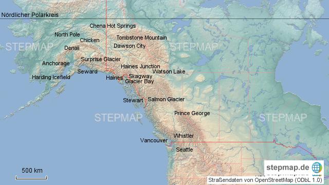 Polarkreis Alaska Karte.Alaska Kanada Von Zahnjulia Landkarte Für Nordamerika