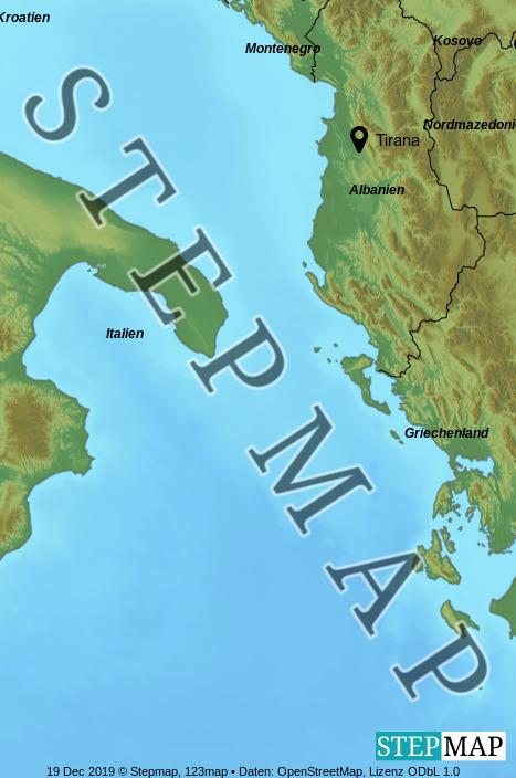 Landkarte: Albanien