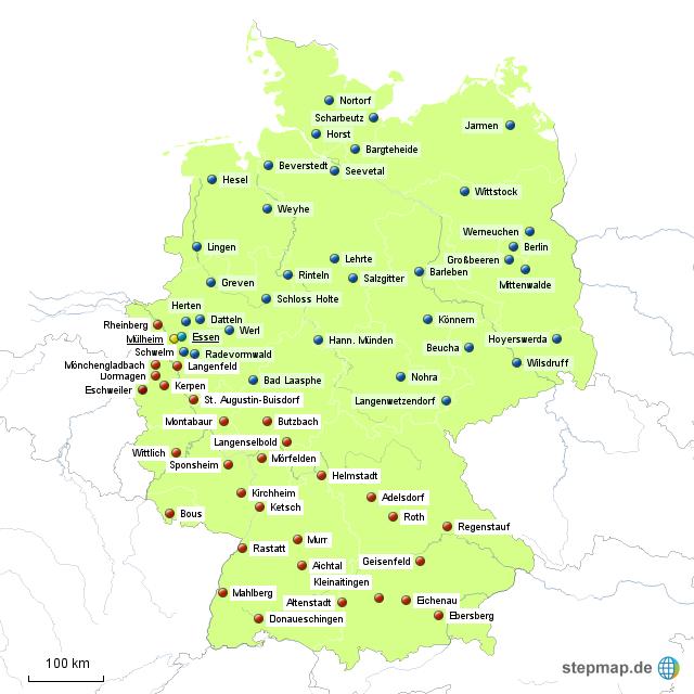 Aldi Nord Süd Karte.Aldi Zentrallager 31 Süd 35 Nord Von Jsl Landkarte Für Deutschland