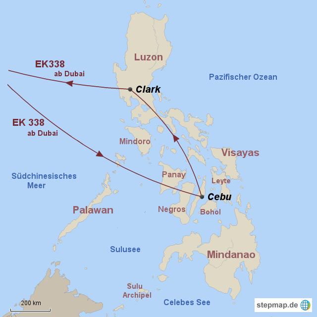 Karte Philippinen.Allgemein Emirates Karte Philippinen 2 Von Id Reisewelt Landkarte