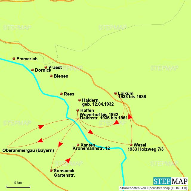Karte Niederrhein.Stepmap Am Niederrhein Landkarte Für Deutschland