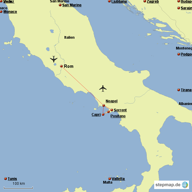 amalfiküste karte Amalfiküste Italien Landkarte | Kleve Landkarte