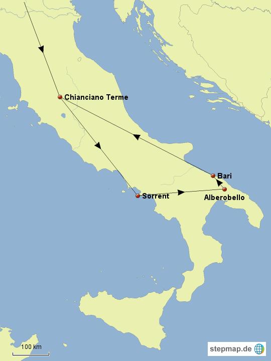amalfiküste karte Amalfiküste und Apulien von aschenbrenner   Landkarte für Italien