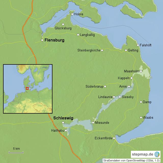 Haithabu Karte.Angeln Von Raxi Landkarte Fur Schleswig Holstein