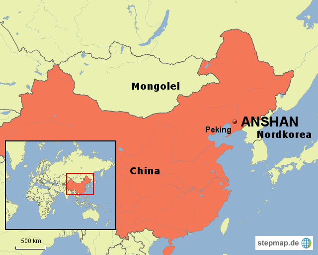 Anshan China Pictures And Videos And News CitiesTipscom - Anshan map