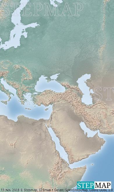 Landkarte: Arabian Peninsula