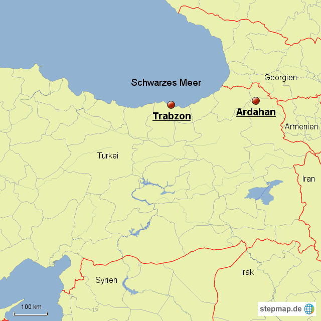 Trabzon Karte