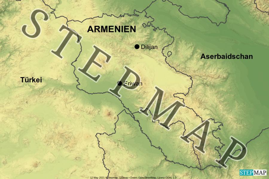 Landkarte: Armenien