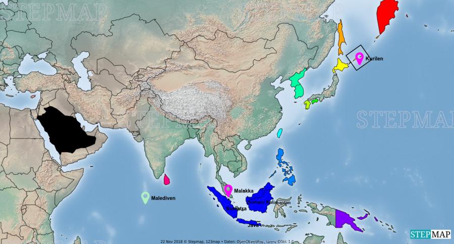 Landkarte: Asien