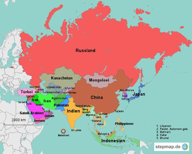Asien Karte ~ Map of world