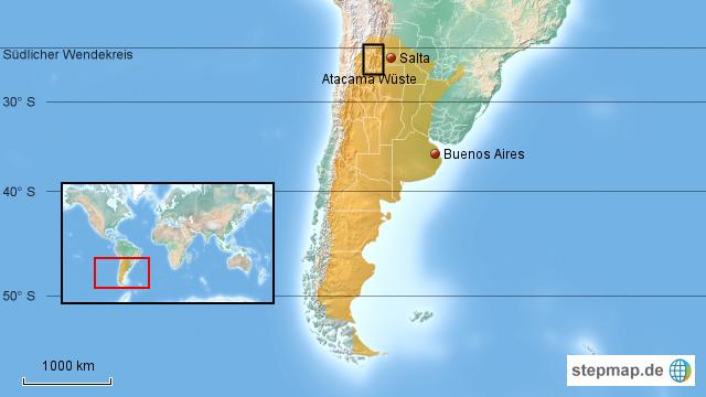 Atacama Wüste Karte.Atacama Wüste Nord West Argentinien Von Thomas Map Landkarte Für