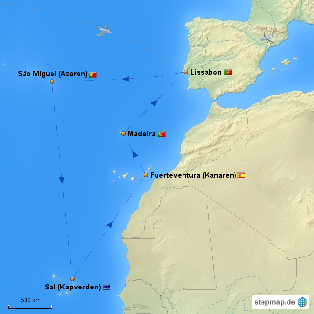 atlantische inseln kreuzfahrt von oneiro87 landkarte f r europa. Black Bedroom Furniture Sets. Home Design Ideas