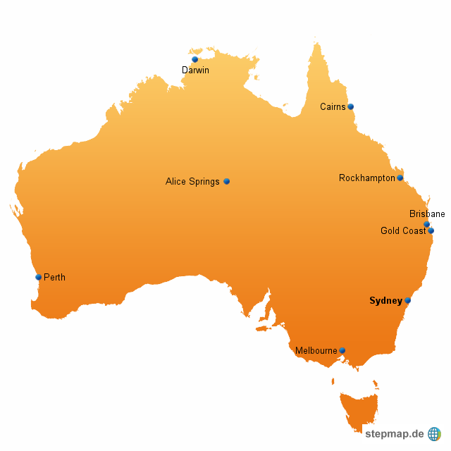 australien karte schwarz wei goudenelftal. Black Bedroom Furniture Sets. Home Design Ideas