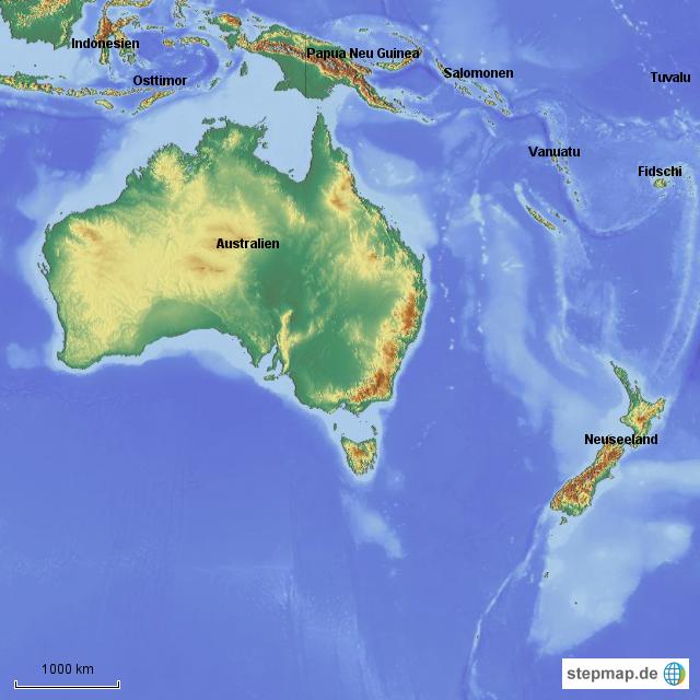 Indonesien Karte Physisch.Australien Ozeanien Physisch Von Mrsj 4teachers Landkarte
