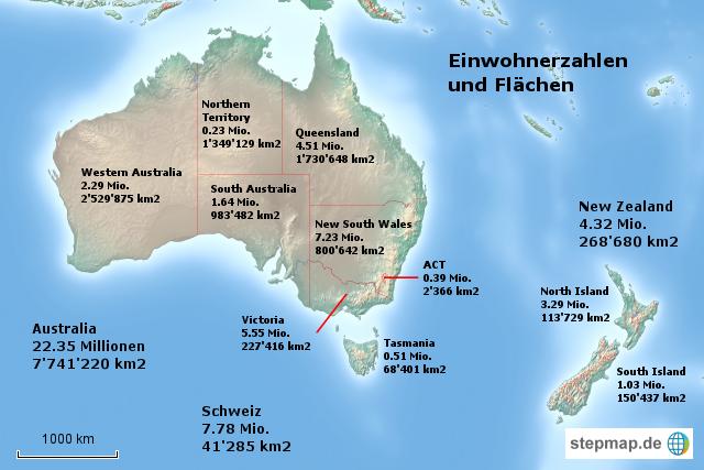australien und neuseeland einwohnerzahlen von dagali. Black Bedroom Furniture Sets. Home Design Ideas