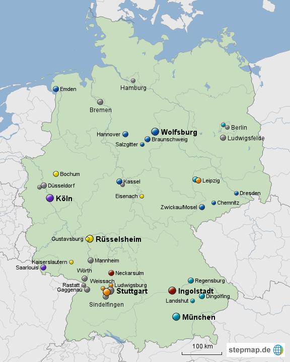 Automobilhersteller Deutschland Karte Automobil Bau Auto Systeme