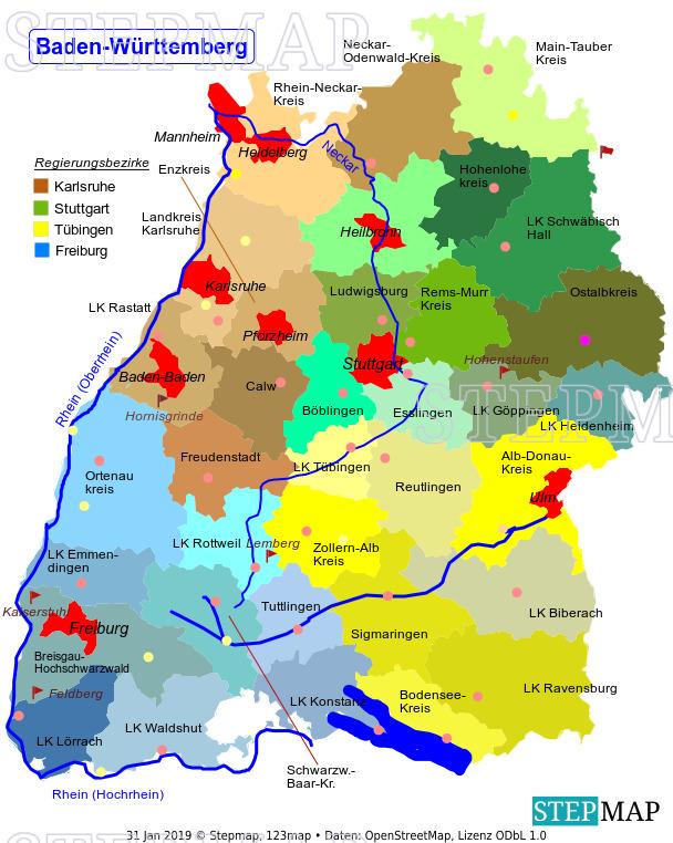 Landkreise In Baden Württemberg