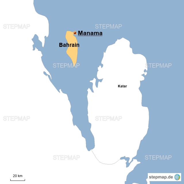 Bahrain von Reiti50 - Landkarte für Deutschland