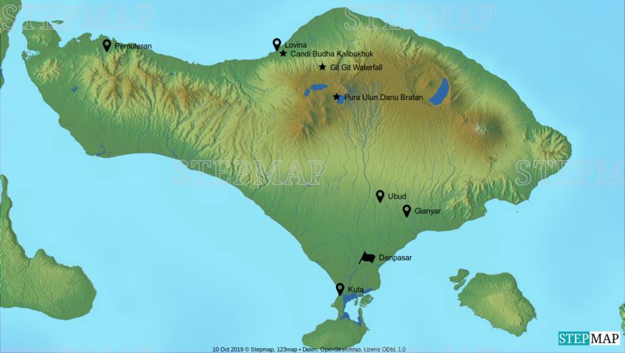 Landkarte: bali