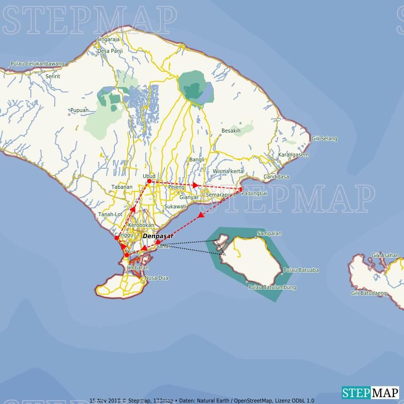 StepMap - Bali - Landkarte für Indonesien