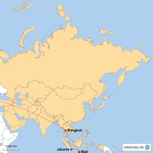 Bali Karte Asien.Bangkok Java Bali 1 Von Horstwehrse Landkarte Für Asien