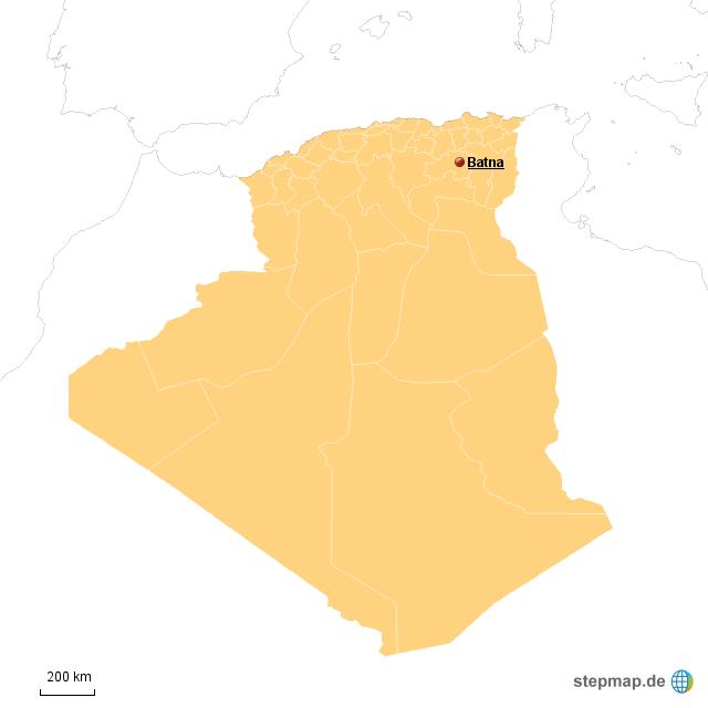 Batna DZ von TNaeger - Landkarte für Algerien