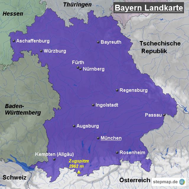 eine landkarte von deutschland