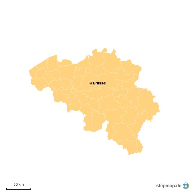 Belgien Karte Umriss.Belgien Von Hniethammer Landkarte Für Deutschland