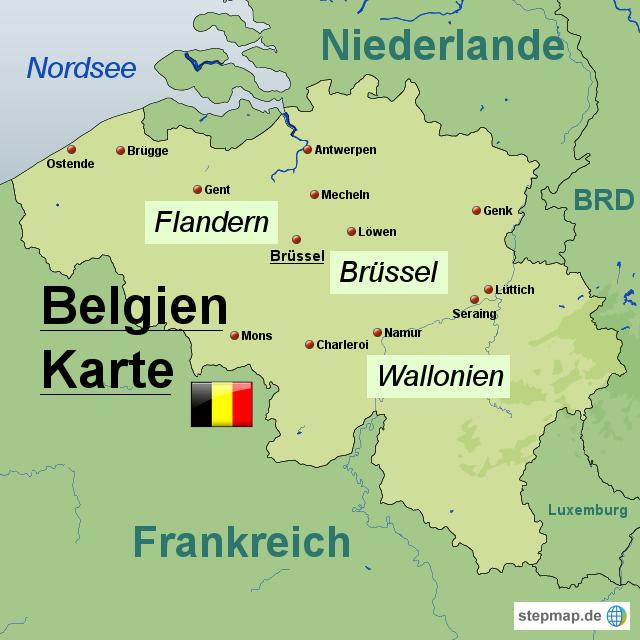 karte belgien Brüssel Belgien Karte | Kleve Landkarte