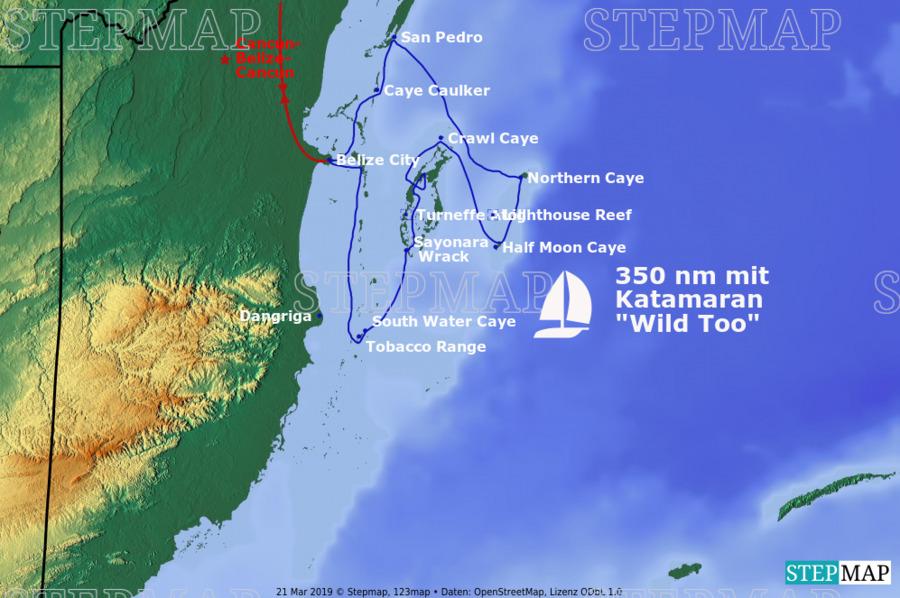 Landkarte: Belize