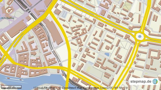 berlin strausberger platz von b horn landkarte f r. Black Bedroom Furniture Sets. Home Design Ideas