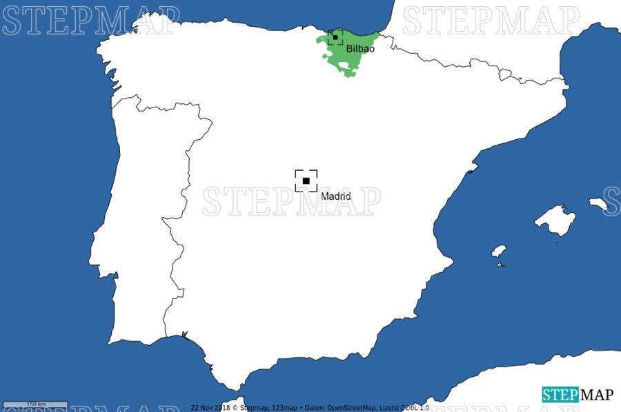 Landkarte: Bilbao