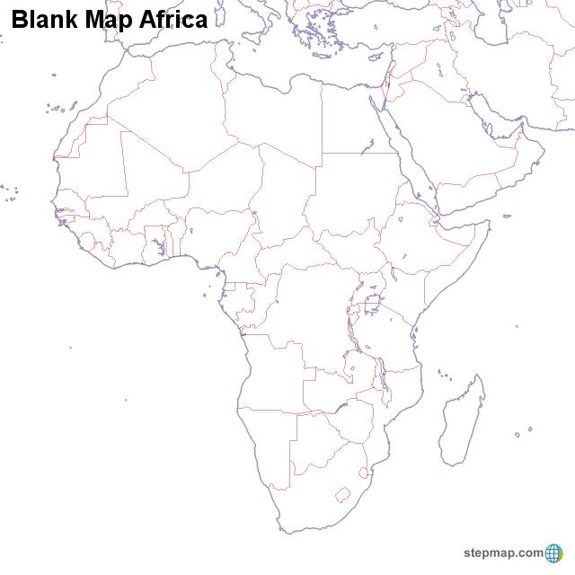 map of africa blank - Yelom.myphonecompany.co