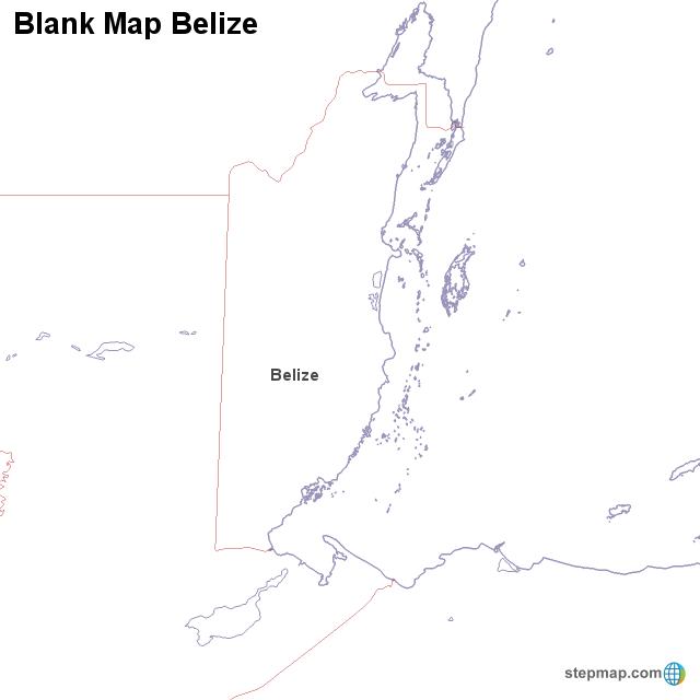 Blank Map Belize von countrymap - Landkarte für Belize