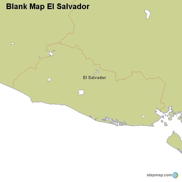 Blank Map El Salvador von countrymap - Landkarte für El Salvador