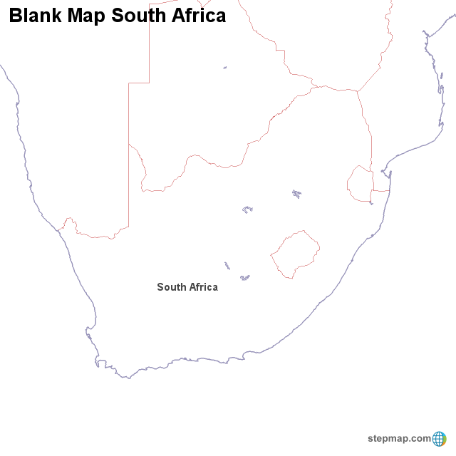 africa map blank