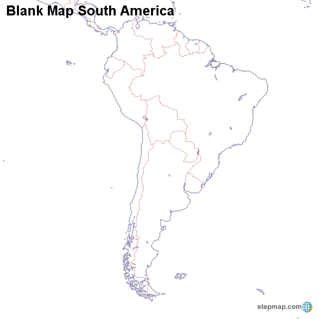 Blank South America Map Worksheet South america map quiz blank