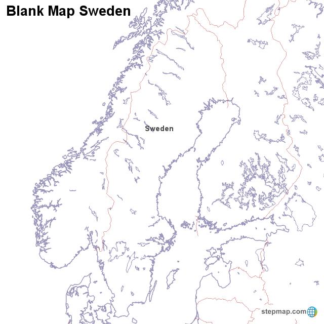 Blank map sweden