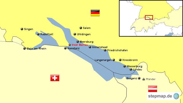 Bodensee von jonny landkarte f r deutschland for Bodensee karte