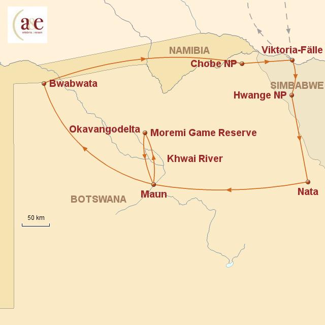 botswana im reich der wilden tiere von ae erlebnisreisen. Black Bedroom Furniture Sets. Home Design Ideas